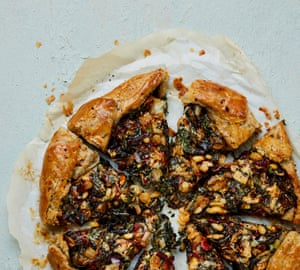Yotam Ottolenghi's Swiss chard galette with dolcelatte.