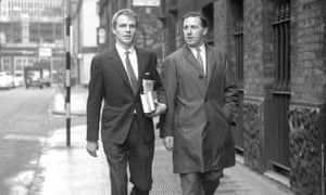 Union Movement candidate Walter Hesketh, right, with his agent Max Mosley in Manchester, 1961