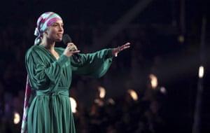 Alicia Keys was the ceremony's host