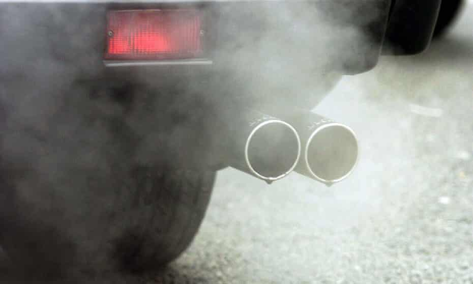 Fumes coming from car tailpipe