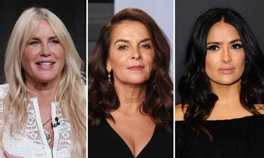 Daryl Hannah, Annabella Sciorra and Salma Hayek (l.t.r.) are among actors accusing Harvey Weinstein.