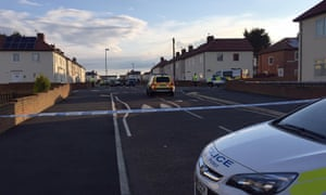 The scene in South Shields, South Tyneside, where James Wilson was shot.