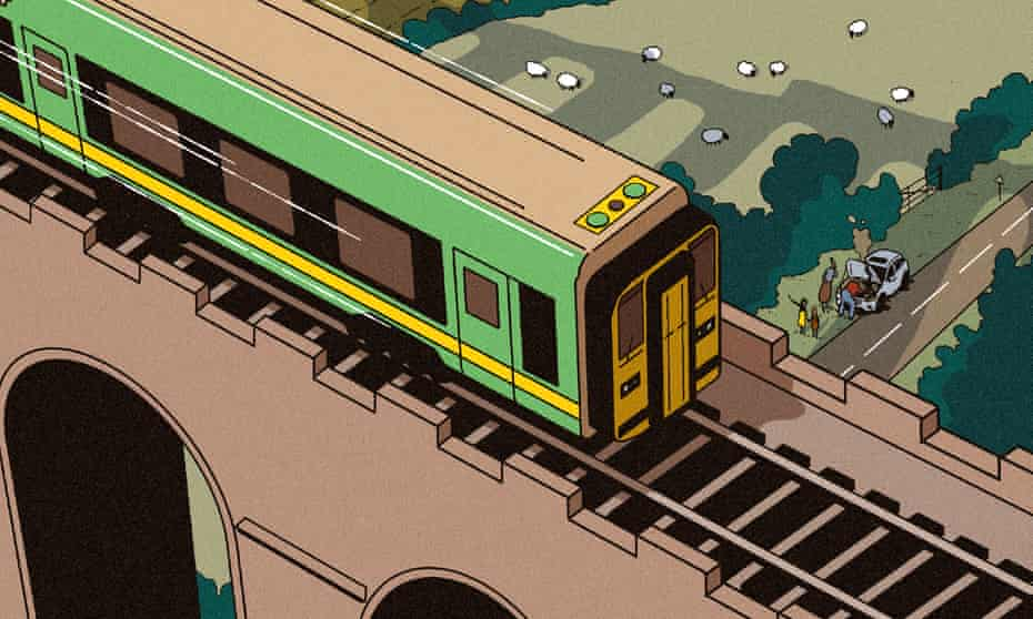 Illustration of Heart of Wales line train