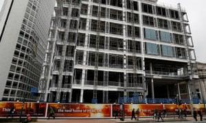 HSBC's new UK headquarters under construction in Birmingham, March 2017.
