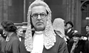 Jeremy Hutchinson, later Lord Hutchinson of Lullington, after being sworn in as a QC in 1961.