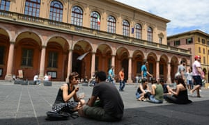 Students at Bologna University, Italy
