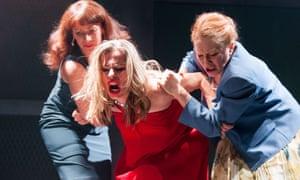 Insidious violence … Lucianne McEvoy, Scarlett Mack and Deirdre Davis in Bold Girls.