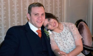 Matthew Hedges and his wife Daniela Tejada on their wedding day.