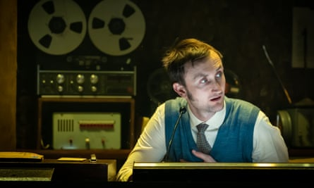 Noises off … Tom Brooke as the dorky sound designer Gilderoy in Berberian Sound Studio at the Donmar, London.
