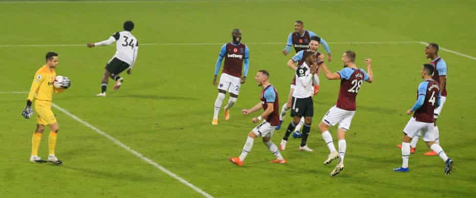 Devastation for Lookman in November after his injury-time Panenka penalty is saved by West Ham's Lukasz Fabianski.