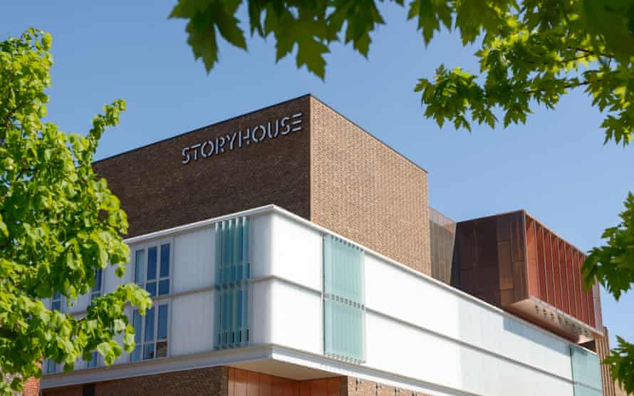 Chester Storyhouse arts venue which includes a theatre cinema and library