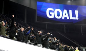 Fans celebrate their sides first goal