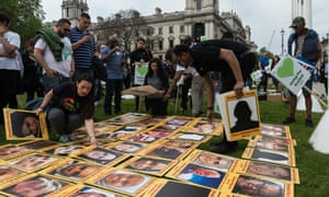 The Grenfell community of survivors, families and supporters in Parliament Square to demand a panel of experts be involved to avoid collapse of confidence in the inquiry.