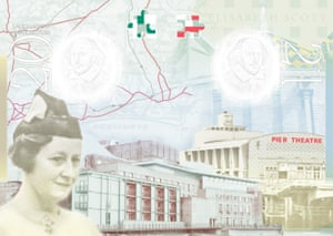 Architect Elisabeth Scott is one of only two women who feature prominently on the passport's pages