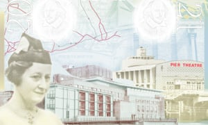 Architect Elisabeth Scott features on a page on her own in the new UK passport