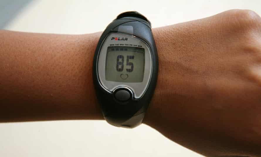 A wrist-worn heart-rate monitor