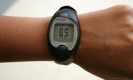 A wrist-worn heart-rate monitor