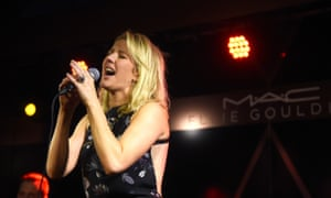 Ellie Goulding performs in Miami at a gig sponsored by a cosmetics firm.