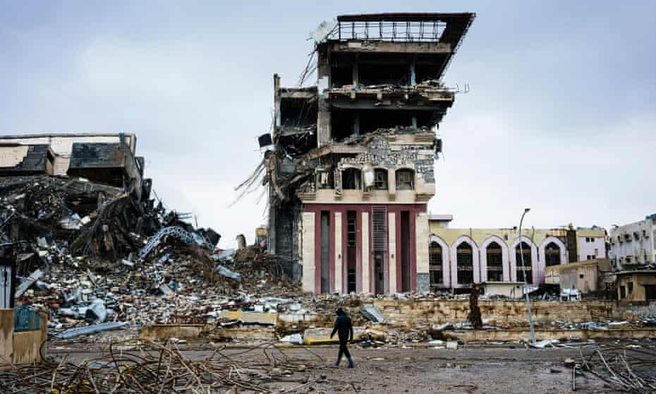 The ruins of Mosul's university after it was recaptured in 2017.