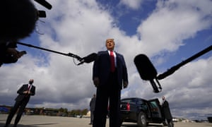 Trump speaks to reporters at Joint Base Andrews on Saturday.