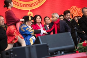 The Mayor of London, Sadiq Khan, on stage