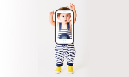 Child in mobile phone camera