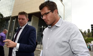 Gable Tostee, right, and his lawyer Nick Dore