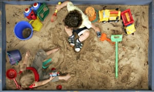 Two boys used spades from their kindergarten's sand pit to dig a hole under a fence and escape, before walking to a sports car showroom.