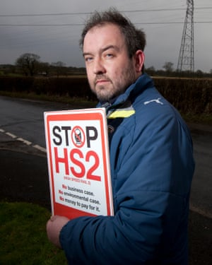 Joe Rukin, the campaign manager of Stop HS2.