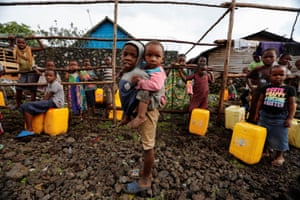 Bugamba, Democratic Republic of the CongoChildren are pictured at a water point near Goma, the capital of North Kivu province