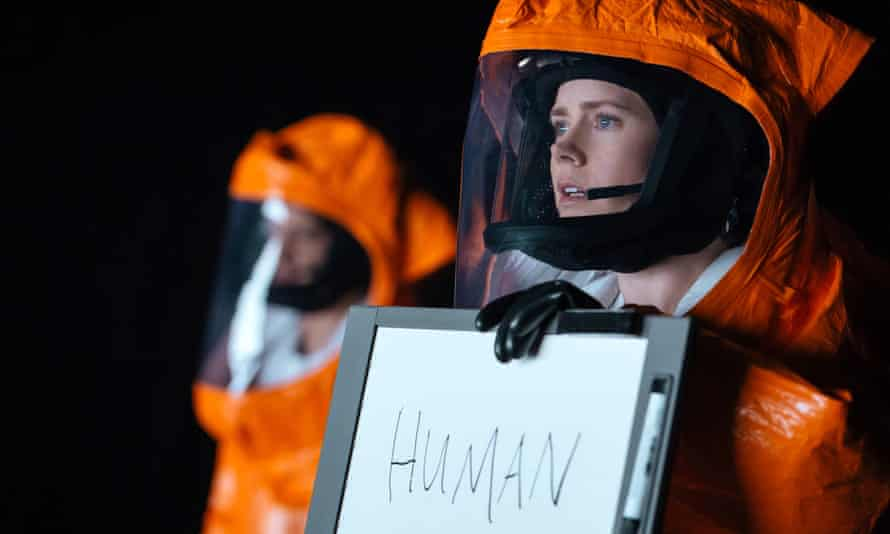 Amy Adams in a space suit in a still from Arrival.