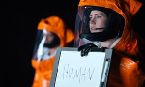 The power of translation … Amy Adams in Arrival, based on a Ted Chiang story.