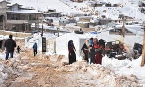 Arsal refugee camp in Lebanon