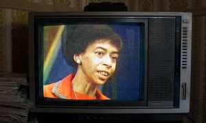 Marion Stokes on the screen of an old TV in Recorder.