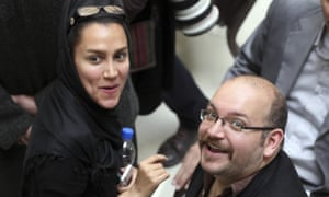 Washington Post correspondent Jason Rezaian, right, the Iranian-American correspondent for the Washington Post released on Saturday.