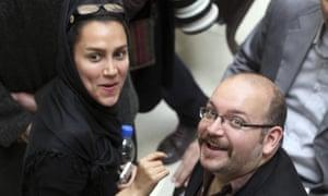 Jason Rezaian and his journalist wife, Yeganeh Salehi,