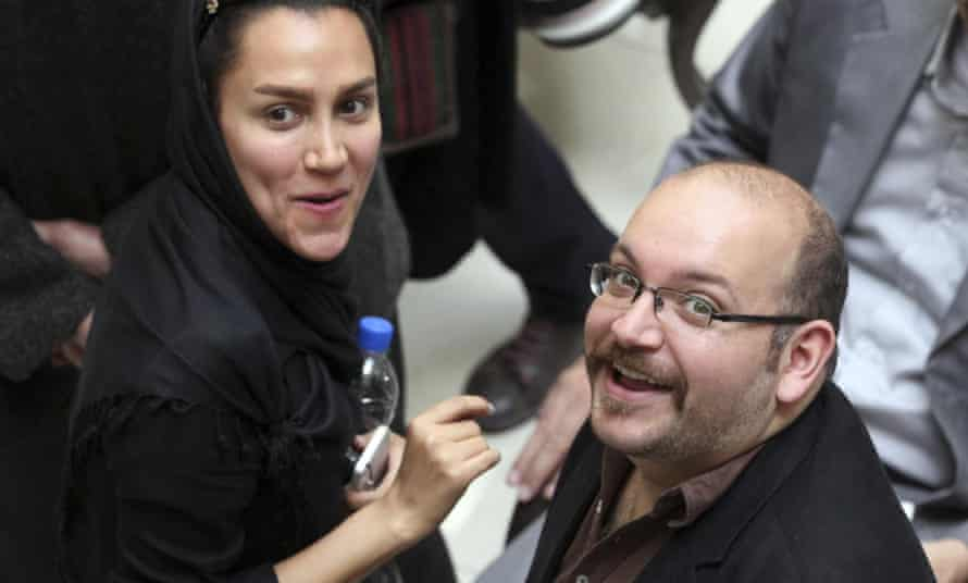 Jason Rezaian with his wife Yeganeh Salehi.