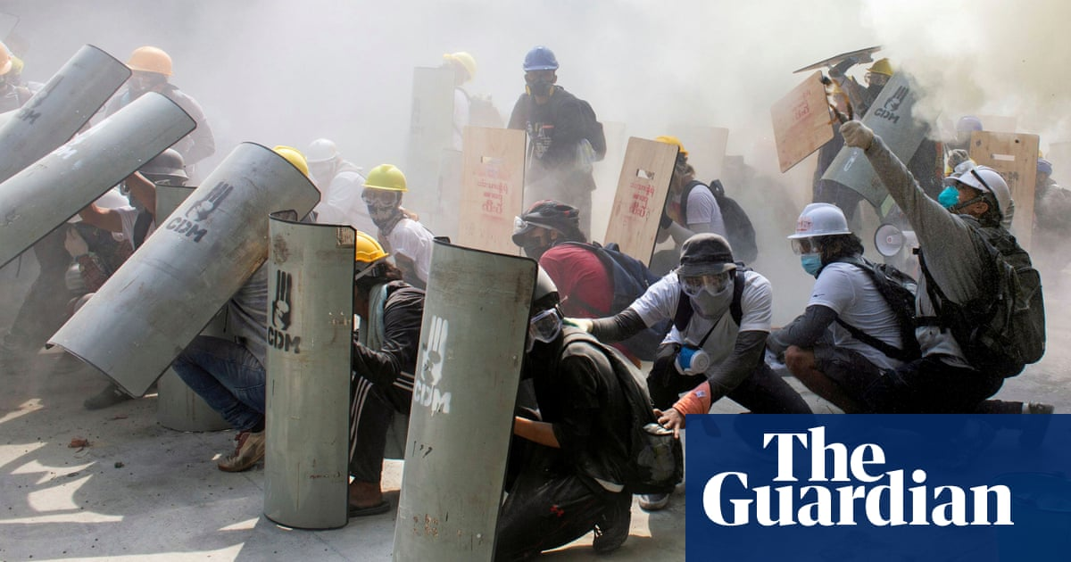Myanmar coup: police fire on protesters in deadliest day of clashes –video