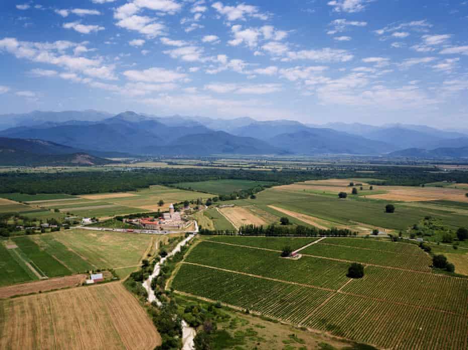 The Alaverdi monastery among the vineyards of Kakheti