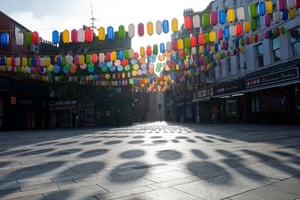 Chinatown in London is devoid of custom