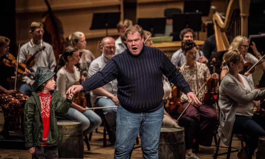 'Spellbinding': Stuart Skelton, centre, in the title role with Samuel Winter as Grimes's boy apprentice and the Bergen Philharmonic in Peter Grimes at Usher Hall.