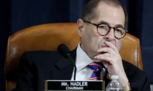 Jerry Nadler listens as constitutional scholars testify before the House judiciary committee.