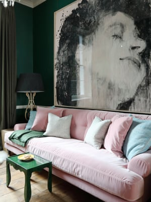 'Art is important to me': Ana Engelhorn's living room.