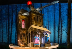 Jennifer Davis (Gretel) and Hanna Hipp (Hansel) in Hansel and Gretel by Engelbert Humperdinck at Royal Opera House