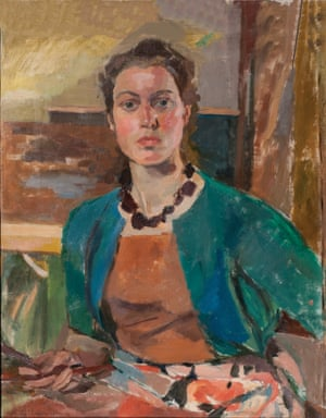 Unity Spencer's 1954 self-portrait, used to illustrate the cover of her memoir, Lucky to Be an Artist, 2015