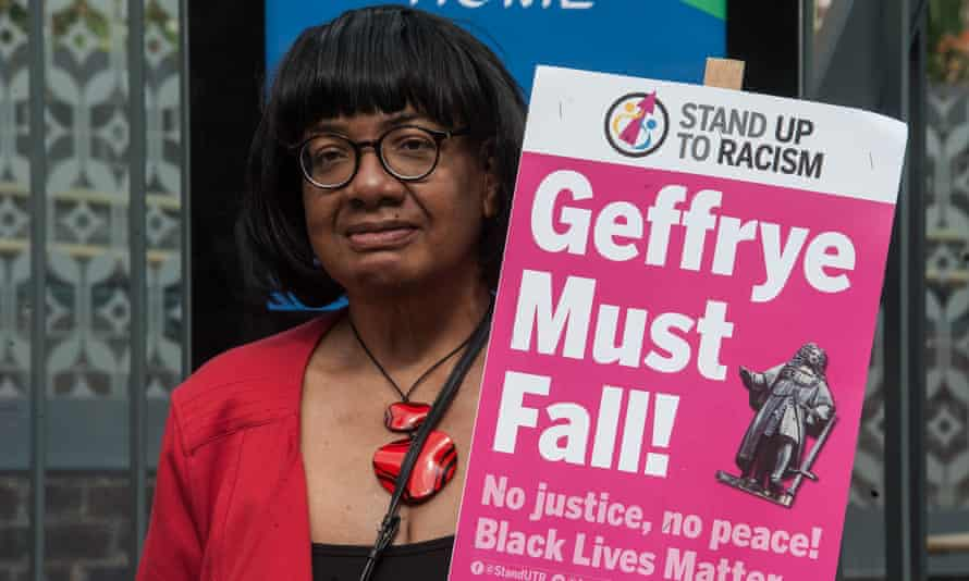 Hackney MP Diane Abbott at the protest outside the Museum of the Home on Saturday