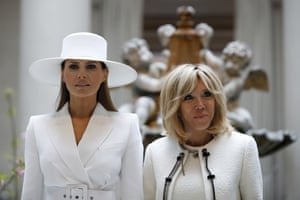 The First Ladies tour the National Gallery of Art, in Washington