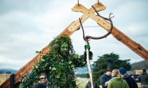 Green man at the Huon Valley Mid-Winter Festival