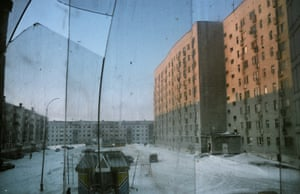 Vorkuta, 2009 The town - once home to the thriving coal mining industry - is full of abandoned buildings that the government does not have funds to repair when they collapse due to the extremes in temperature - in winter it can get as cold as -40 °C.