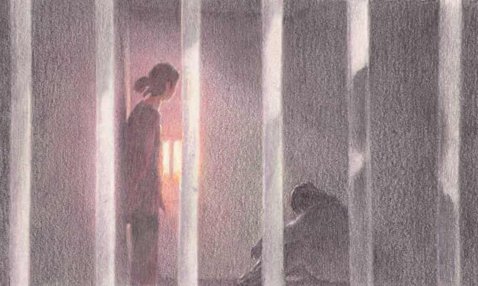An illustration of a women prison. Texas prisons have been hit especially hard by the coronavirus.